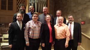 Front row: Robert McConnell, Philip McPeek, Mary Gifford, Jay Peterson, James Russell Brown.  Back row: Eric Budzynski, Stephen Uhl, Kevin McKelvie, William Crowle.  Not pictured: Derek Nickels