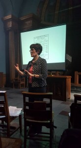 Joyce in lecture (1)